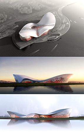 艺术馆建筑效果图