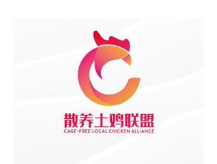 清新散养土鸡联盟农业禽业企业logo设计