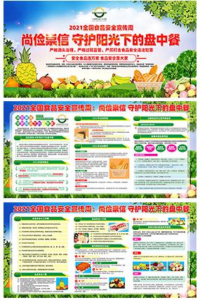 全国食品安全宣传周展板