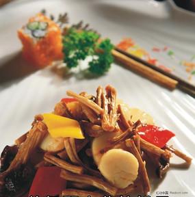 野山菌炒扇贝
