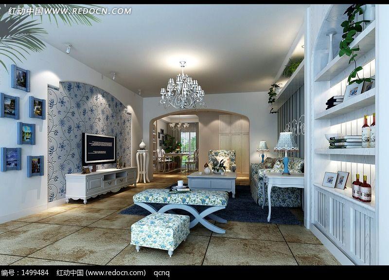 田园风格家居设计客厅效果图设计图片