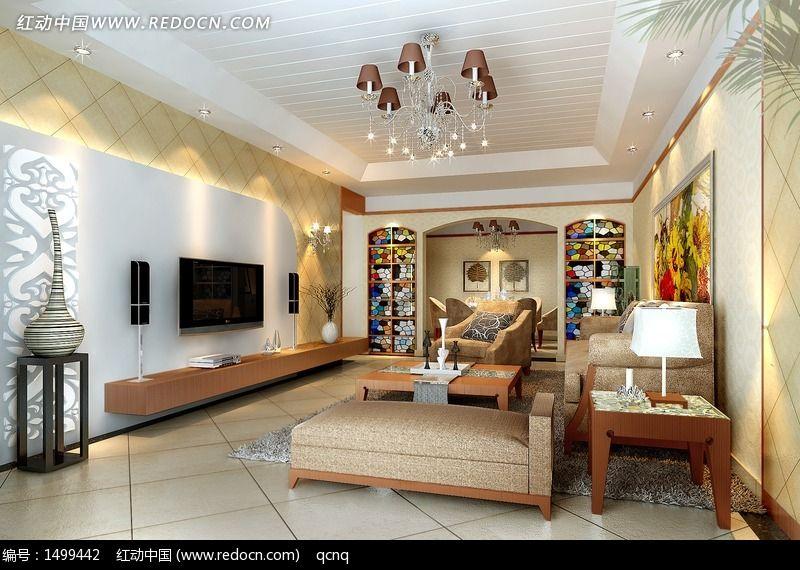 欧式风格家居设计客厅效果图设计3D图片图片