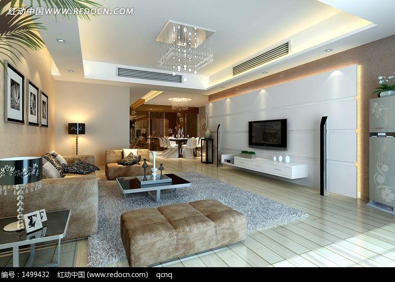 简约风格家居设计客厅效果图设计3D图片图片