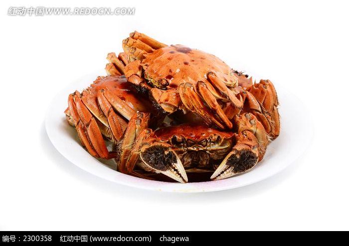 一盘油卤蟹图片