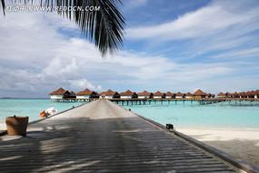 美丽的海岛度假屋
