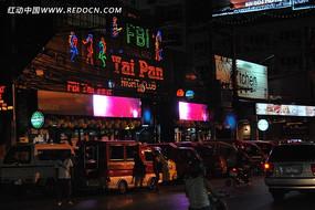 泰国街头夜景
