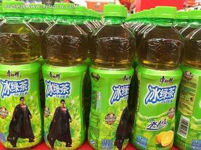 一排排整齐的冰绿茶