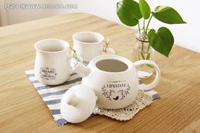 zakka小清新陶瓷牛奶壶杯子