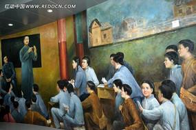 吉鸿昌纪念馆壁画