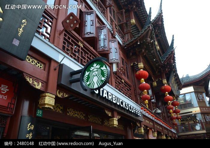 城隍庙古色古香的街坊图片