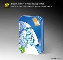 薄荷糖铁盒包装设计