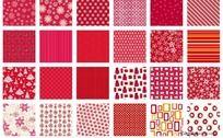 圣诞底纹矢量图之红色系列