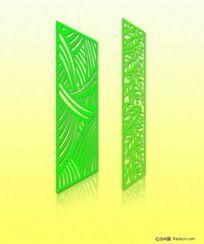 绿色镂空隔断