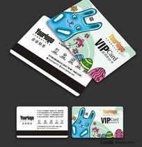 卡通风格VIP卡设计模板CDR源文件