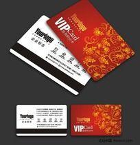 中国红VIP卡设计模板CDR源文件