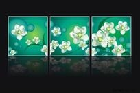 逼真花卉無框畫矢量圖