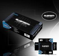 黑色蓝牙无线网络器外包装设计