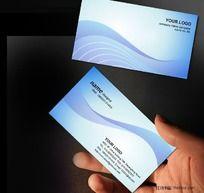 蓝色科技名片PSD模板下载 IT网络名片 信息名片