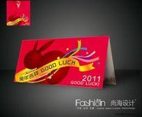 2011兔年贺卡设计CDR矢量图