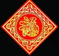2011年 兔年 春节福贴设计 门贴