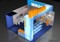 数码产品展览展示设计3DS模型带贴图