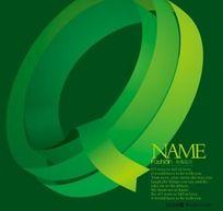 原创Q字母 字体设计