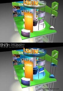 电子科技数码展览会展台设计3DMAX模型
