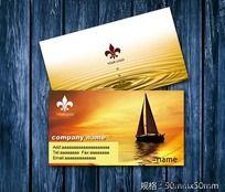 帆船名片设欣赏