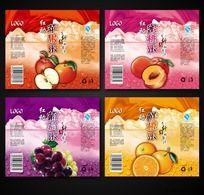 果汁瓶贴包装系列设计