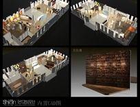 810平方超大地板展厅设计3D模型
