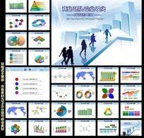 业绩报告PPT背景图片