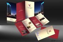 简洁大气酒店宣传折页设计CDR格式