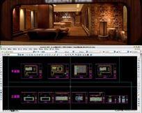 高档地板专卖店室内装修全套CAD施工图