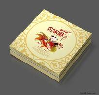 合家欢月饼盒设计