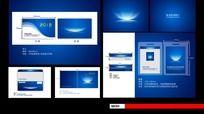 简洁中国蓝科技VI视觉效果设计