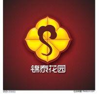 房地产标志-锦泰花园-中国元素