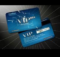蓝色创意线条VIP卡