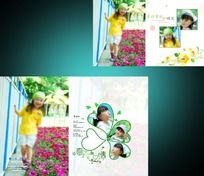 夏日里的小花 儿童模板