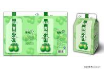 青梅果汁饮料包装