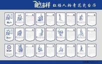 2012年红楼人物青花瓷台历