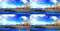海边光线唯美动态视频