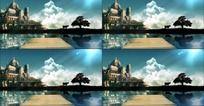 海边童话城堡视频背景素材