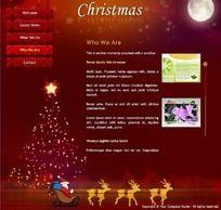 圣诞节网站flash模板