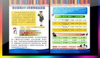 春季培训学校招生宣传单页设计