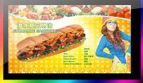 三明治海报设计