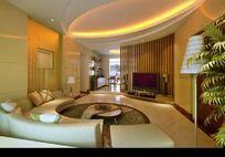 3D室内配套模型客厅 别墅模型 沙发模型