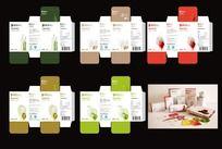 绿色食品果蔬饼干包装盒设计