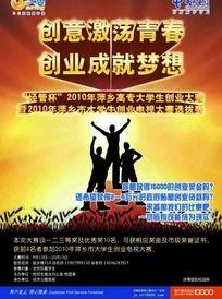中国电信天翼校园创意创业活动海报