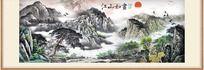 江山如画巨幅国画