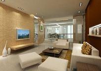 最新现代客厅模型vary贴图装饰模型